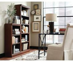 3-Shelf Decorative Bookcase in Dark Brown
