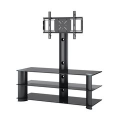 CorLiving TRL-601-T Laguna Satin Black TV Stand with Mount (TV Stand with Mount)