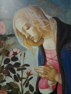Sandro Botticelli, detail from The Virgin adoring the sleeping Christ Child