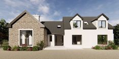 House Designs Ireland, Ireland Homes, Bungalow House Design, Extension Ideas, House Extensions, Modern Houses, New Builds, House Plans, House Ideas