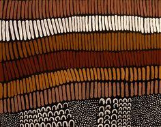 Lena Nyadbi / Dayiwul ngarranggarni 2009 natural ochre and pigments on canvas 80 × 100cm