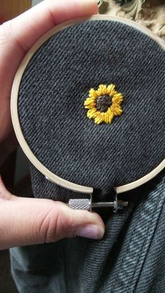 Cross Stitch Embroidery 50 Easy DIY Embroidery Shirt Designs You Can Do By Hand - A closet staple that's currently trending is embroidered apparel. Albeit charming, the quirky embroidery designs you adore are not at the… Diy Embroidery Shirt, Diy Embroidery Designs, Embroidery Art, Cross Stitch Embroidery, Embroidery Patterns, Diy Clothes Embroidery, Diy Embroidered Jeans, Cross Stitch Art, Vintage Embroidery