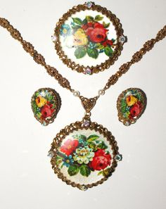 Signed West Germany Gold Filigree Floral by PINKCHAMPAGNEFASHION, $89.99