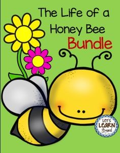 Honey Bee...Emergent Readers, Write the Room Posters and Writing Activities, Learning Cube ,Roll,Graph and Count...Let's Learn S'more!