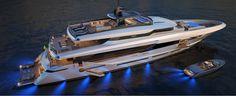 42m Mangusta Oceano displacement superyacht design.#BesofYachting