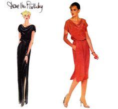 Diane Von Furstenberg Evening Dress 1970s by allthepreciousthings, $14.00