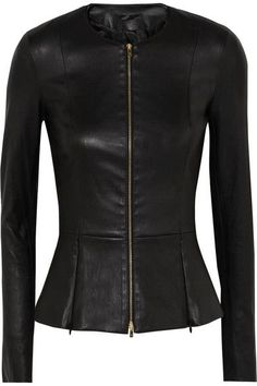 The Row - Anasta Leather Jacket - Black Mode Style, Fashion Outfits, Womens Fashion, Style Fashion, Leather Fashion, Black Leather, Real Leather, Soft Leather, What To Wear