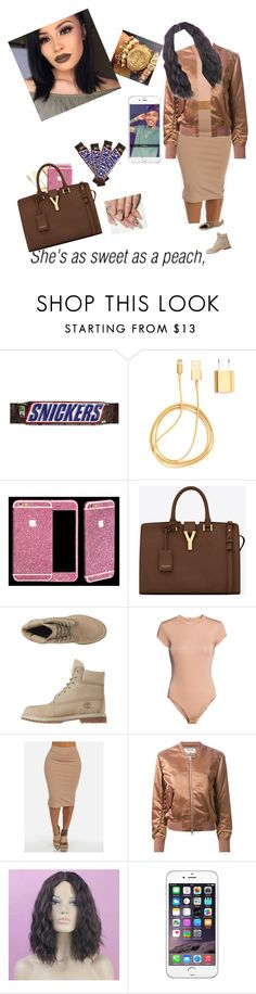 """""""Facetime wit Aug"""" by elmowatson ❤ liked on Polyvore featuring PhunkeeTree, Yves Saint Laurent, Timberland, H&M and Acne Studios"""
