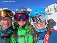 three girls backcountry skiing in Crested Butte
