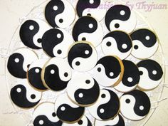 Black and White Party - Black and White Food - Yin Yang Cookies