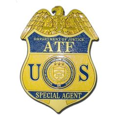Alcohol, Tabacco & Firearms (ATF) Agent replica wooden badge plaques