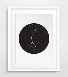 Outer Space Decor Constellation Ursa Minor by MelindaWoodDesigns #nurseryprints