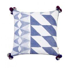 CUSHION   mosaic blue