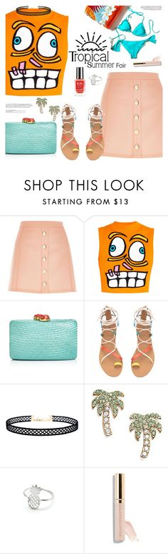 """""""BA93: Tropical Summer"""" by bugatti-veyron ❤ liked on Polyvore featuring River Island, Jeremy Scott, Kayu, LULUS and Kate Spade"""