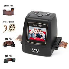 BUY NOW Jumbl High-Resolution 22MP All-In-1 Scanner/Digitizer Converts 35mm Negative Films, 35mm Slides, 110, 126, and Super 8 Film to 22-Megapixel