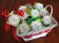 TEACHER GIFT:  Sayings for highlighters, scissors, mints, tape, chalk, gum, glue and Hershey Hugs)