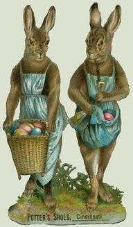Vintage - Easter Ad for Potter's Shoes in Cincinnati