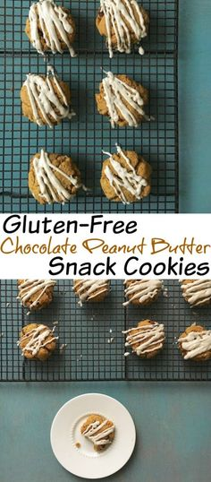 A gluten-free chocolate peanut butter cookie that you can enjoy as a snack - dietitian approved! Peanut Butter Snacks, Chocolate Peanut Butter Cookies, Gluten Free Chocolate, Vegetarian Chocolate, Chocolate Desserts, Keto Cookies, Gluten Free Cookies, Gluten Free Baking, Real Food Recipes
