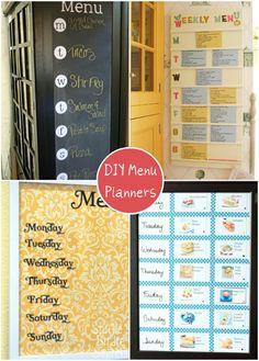 DIY handmade menu planners