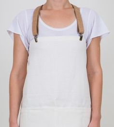 French Linen Apron with Natural Braces
