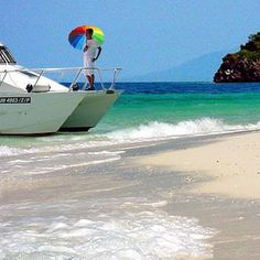 Cruise to a deserted island with gay-friendly Borneo Boats & Beaches, Kota Kinabalu. See them at http://www.utopia-asia.com/malakota.htm