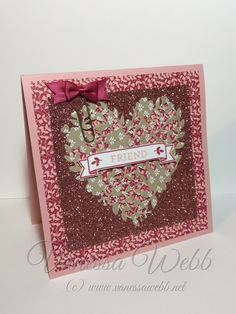 Stampin Up Bloomin Love Bundle of stamps and this amazing Floomin Heart Thinlits Die - 2016 Spring Occasions Catalog.