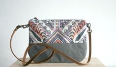 Geometric Aztec Tribal print Small handbag Clutch Purse Pastel on Etsy, 26,36 €