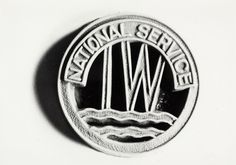 National Service badge worn by women trainee steerers during the Second World War (CRT archive ref Canal Barge, Canal Boat, Narrowboat, Historical Images, Buick Logo, World History, World War Two, Ww2, Boats