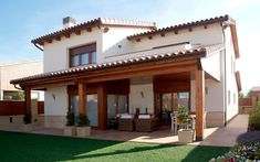 Find the best ideas for your Mediterranean style house. Browse through amazing pictures of Mediterranean style houses for inspiration. Village House Design, Village Houses, Spanish Style Homes, Spanish House, Mediterranean Homes Exterior, Mexico House, Rest House, Home Building Design, Future House