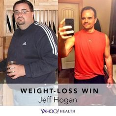Weight-Loss Win is an original Yahoo Health series that shares the inspiring stories of people who have shed pounds healthfully.Jeff Hogan is 38, 5′11″, and weighs 185 pounds. But back in 2006, he weighed 335 pounds. This is the story of his weight-loss journey that took place over the course of five