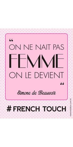 Simone de Beauvoir On ne naît pas femme on le devient Smart Quotes, Wise Quotes, Inspirational Quotes, Athlete Quotes, Some Good Quotes, Quote Citation, Philosophy Quotes, French Quotes, Interesting Quotes