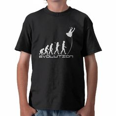 Pole Vault Evolution T Shirts - from Zazzle.com - Darwin Theory of Sports Evolution Gifts Huge Selection of all sports and hobbies.