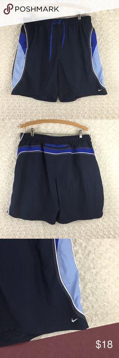 532e58544f Nike Swim Trunks Lined Blue Navy XXL. Nike Swim Trunks Lined Blue Navy XXL Nike  Men Dark Blue Board Shorts Swimwear .