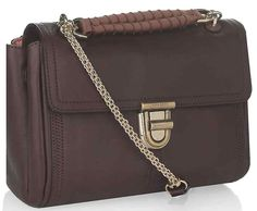 AUTH NWT NINA RICCI MEDIUM ASAP WINE LEATHER SHOULDER BAG 100% AUTHENTIC A ladylike addition to your new season wardrobe, this compact shoulder bag from Nina Ricci makes fashionable weekend style a snap. Finished with a luxe gold-tone twist lock front, simply alternate between the top hand...
