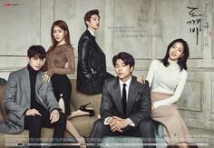 Goblin: The Lonely and Great God. Starring Gong Yoo, Kim Go Eun, Lee Domg Wook, Yoo In Na and Yook Sung Jae. Such an awesome drama. Has everything you could want in a drama. Definitely have to watch this again. Lee Dong Wook, Gong Yoo, Kim Woo Bin, Drama Korea, Lee Kyu Hyung, Goblin 2016, Gongyoo Goblin, Seo Jin, Train To Busan
