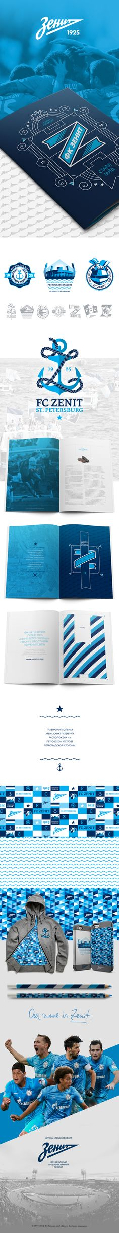 FC ZENIT / ФК ЗЕНИТ by Battagliotti Bros. , via Behance