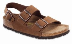 The Milano is Birkenstocks original back-strap sandal style, featuring their classic contoured cork Soft footbed.  Arch Support