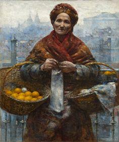 Judía con Naranjas - pintor polaco Aleksander Gierymski