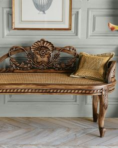 Cane Shell Bench - Neiman Marcus