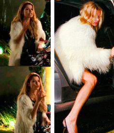 Diana (Aline Moraes) Casaco de plumas e Kate Moss