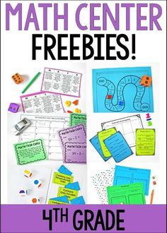 Want to implement guided math centers in your or grade classroom? Grab lots of FREE math centers to try out here!