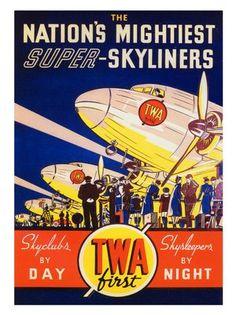 twa-dc3-airline-poster-1937 by nostalgicphotosandprints,