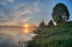 Колодозеро Колодозеро, Карелия, Россия, лето, рассвет, благодать, пейзаж, Природа, длиннопост