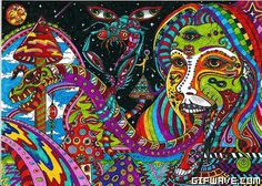 trippy acid lsd shrooms mushrooms ecstasy tripping out gif
