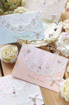 結婚式DIYの味方!プレ花嫁なら必ず買うべき100均の優秀アイテム6選*にて紹介している画像 Wedding Anniversary Cards, Wedding Cards, Wedding Invitations, 10th Birthday, Birthday Cards, Flowery Wallpaper, Diy And Crafts, Paper Crafts, Paper Doilies