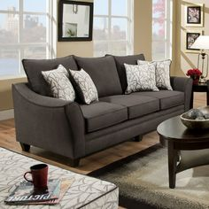 Chelsea Home Flannel Sofa & Reviews | Wayfair