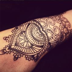 gorgeous (unfinished) mehndi tattoo by dodie
