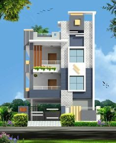 Image Result For Elevations Of Independent Houses Building Elevation House Front Designs