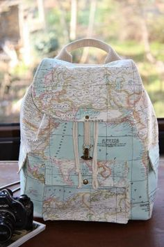 a81fc143b367 World Map Prints Backpack Atlas Large Backpack Travel