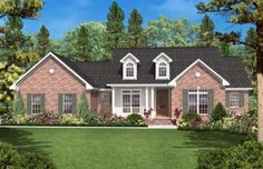 House Plan 041-00014 - Traditional Plan: 1,600 Square Feet, 3 Bedrooms, 2 Bathrooms